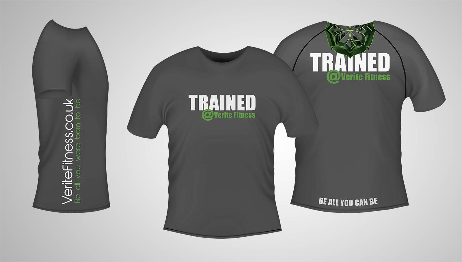 Trained At Grey T-Shirt